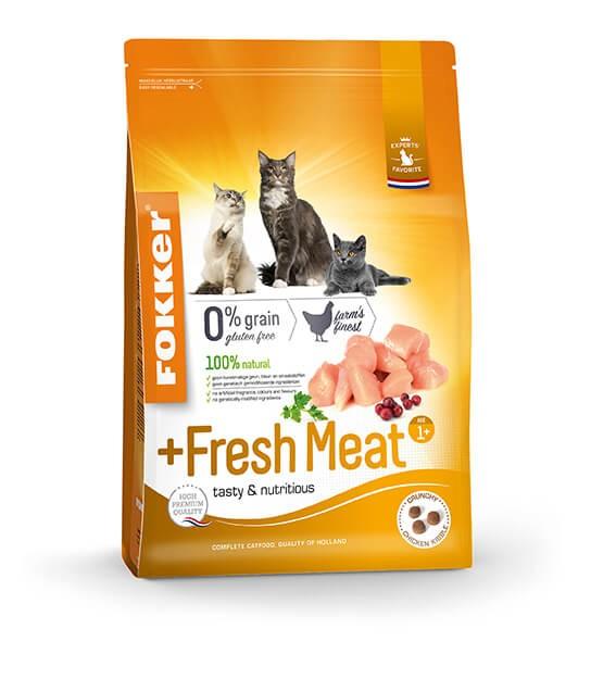 Fokker Adult + Fresh Meat kattenvoer