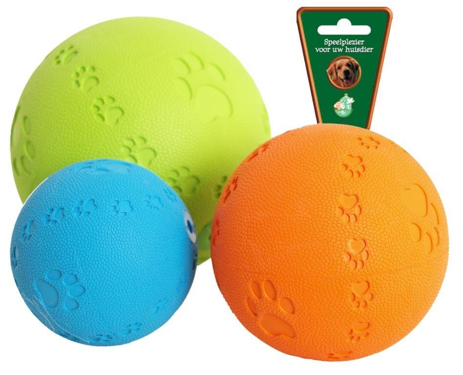 Rubber bal met pootjes en piep