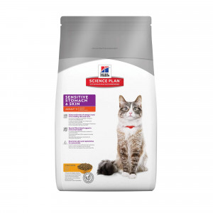 Hill apos s Adult Sensitive Stomach Skin kattenvoer 2 x 1.5 kg Hill apos s Kattenvoer Hill apos s