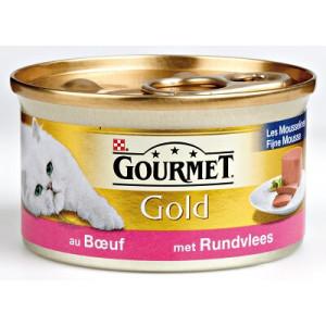 Nat kattenvoer Gourmet Gold Gourmet Gourmet Gold Mousse Rund kattenvoer 2 trays (48 blikken)