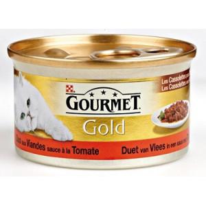 Nat kattenvoer Gourmet Gold Gourmet Gourmet Gold Les Cassolettes Duo van vlees in tomatensaus 2