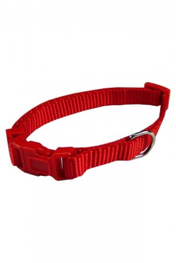 Nylon Halsband Rood voor honden