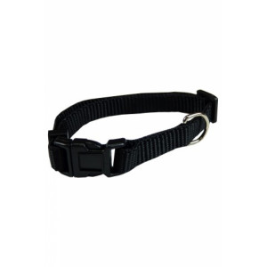 Nylon Halsband Zwart voor honden S