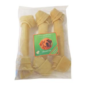 Buffelhuidbot Geknoopt 25 cm voor honden Per 3