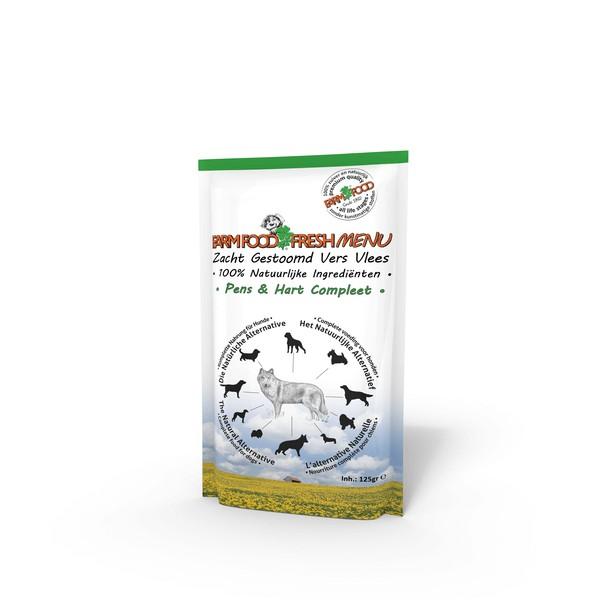 Farm Food Fresh Menu Pens & Hart Compleet zakjes hond 125 gram