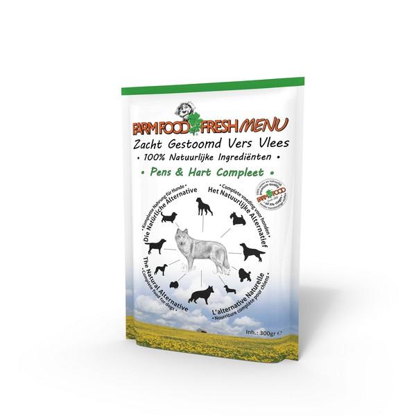 Farm Food Fresh Menu Pens & Hart Compleet zakjes hond 300 gram