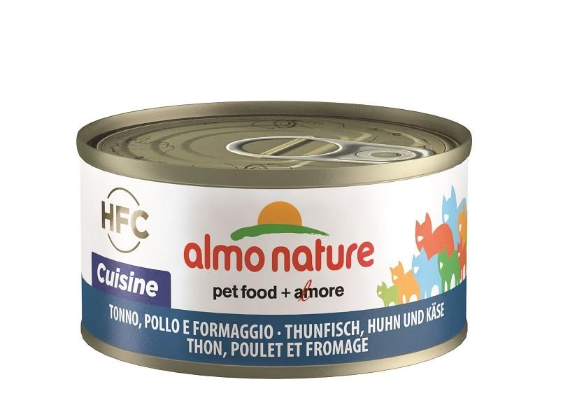 Almo Nature HFC Natural met Tonijn, Kip en Kaas 70 gr