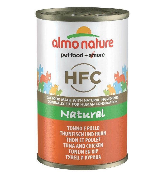 Almo Nature HFC Tonijn en Kip blik 140 gram