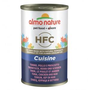 Almo Nature HFC Tonijn, Kip en Ham 140 gram Per 12 Almo Nature Nat kattenvoer Almo Nature