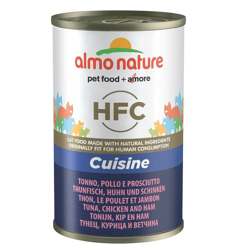 Almo Nature HFC Tonijn, Kip en Ham 140 gram