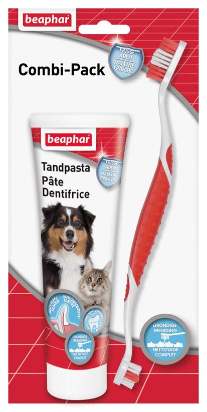 Beaphar Combipack tandpasta & tandenborstel voor hond en kat