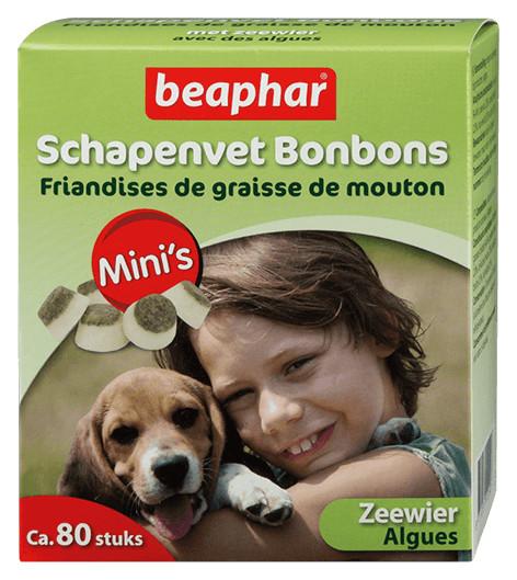 Beaphar Schapenvet Mini Bonbons met Zeewier