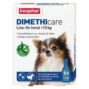 Beaphar Dimethicare Line-On (tot 15 kg) hond 2 x 6 pipetten