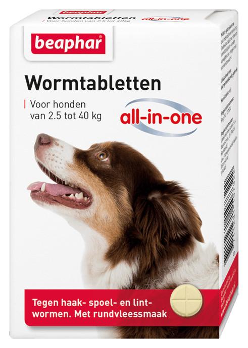 Beaphar Wormmiddel All-in-One (2,5 - 40 kg) hond