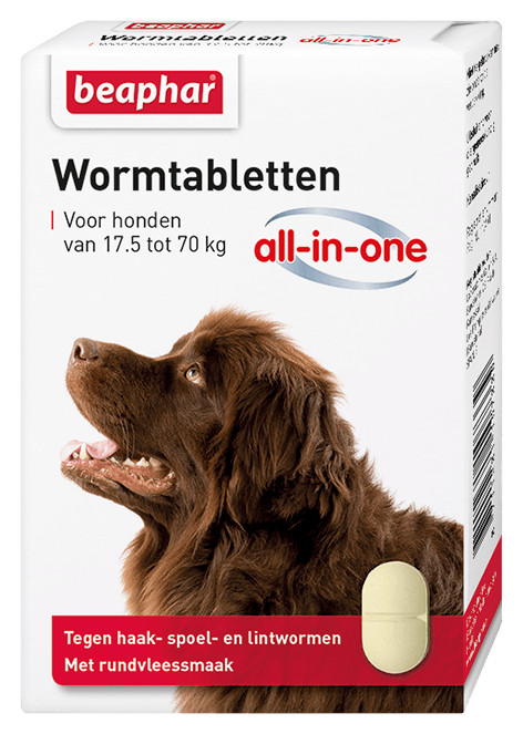 Beaphar Wormmiddel All-in-One (17,5 - 70 kg) hond