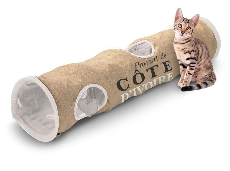 D&D Homecollection cat tunnel cote d ivoire jute voor katten