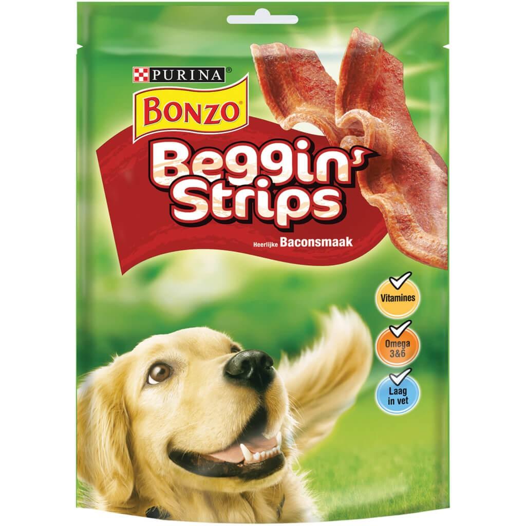 Bonzo Beggin' Strips voor de hond