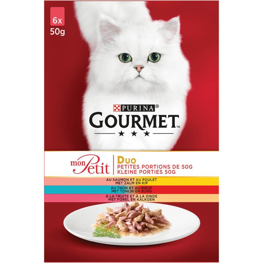 Gourmet Mon Petit Vis & Vlees (6x50g) kattenvoer