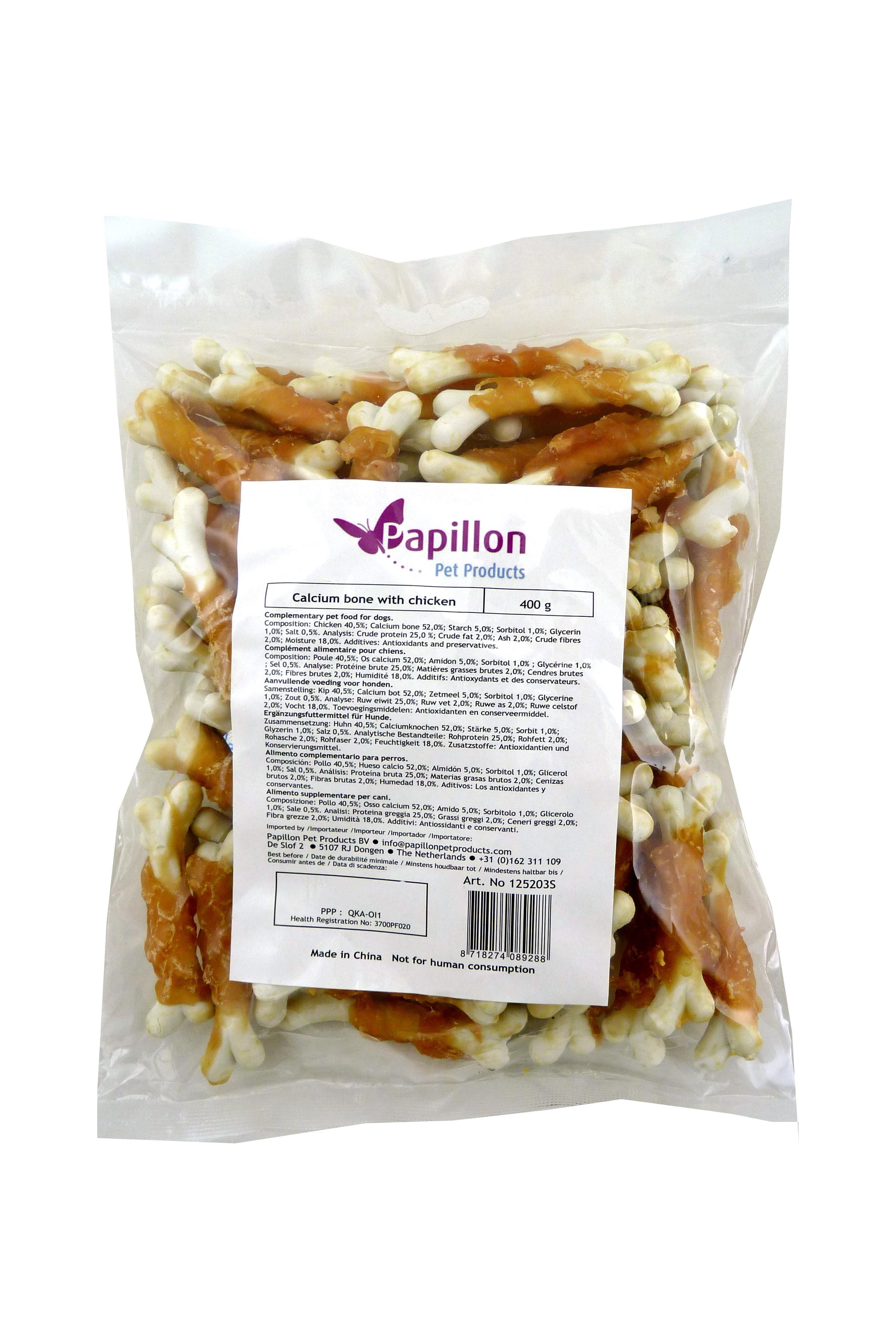 Calciumbotjes met kip - 400 gr