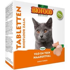 Biofood Tabletten Knoflook Zalm voor de kat