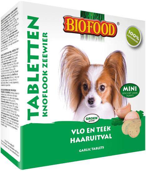 Biofood Tabletten Mini Knoflook Zeewier