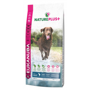 Eukanuba NaturePlus+ Adult Large Breed Zalm hondenvoer 10 kg