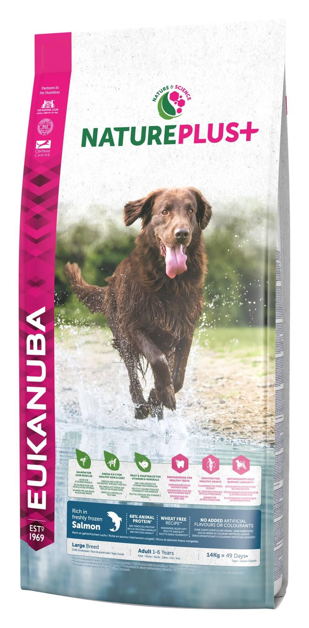 Eukanuba NaturePlus+ Adult Large Breed Zalm hondenvoer