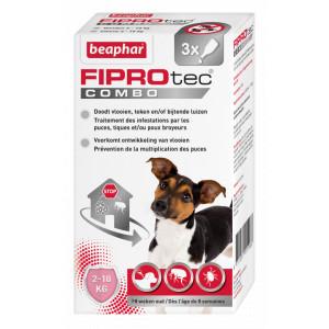 Beaphar FiproTec Combo hond 2-10 kg Anti-Vlo Per 2