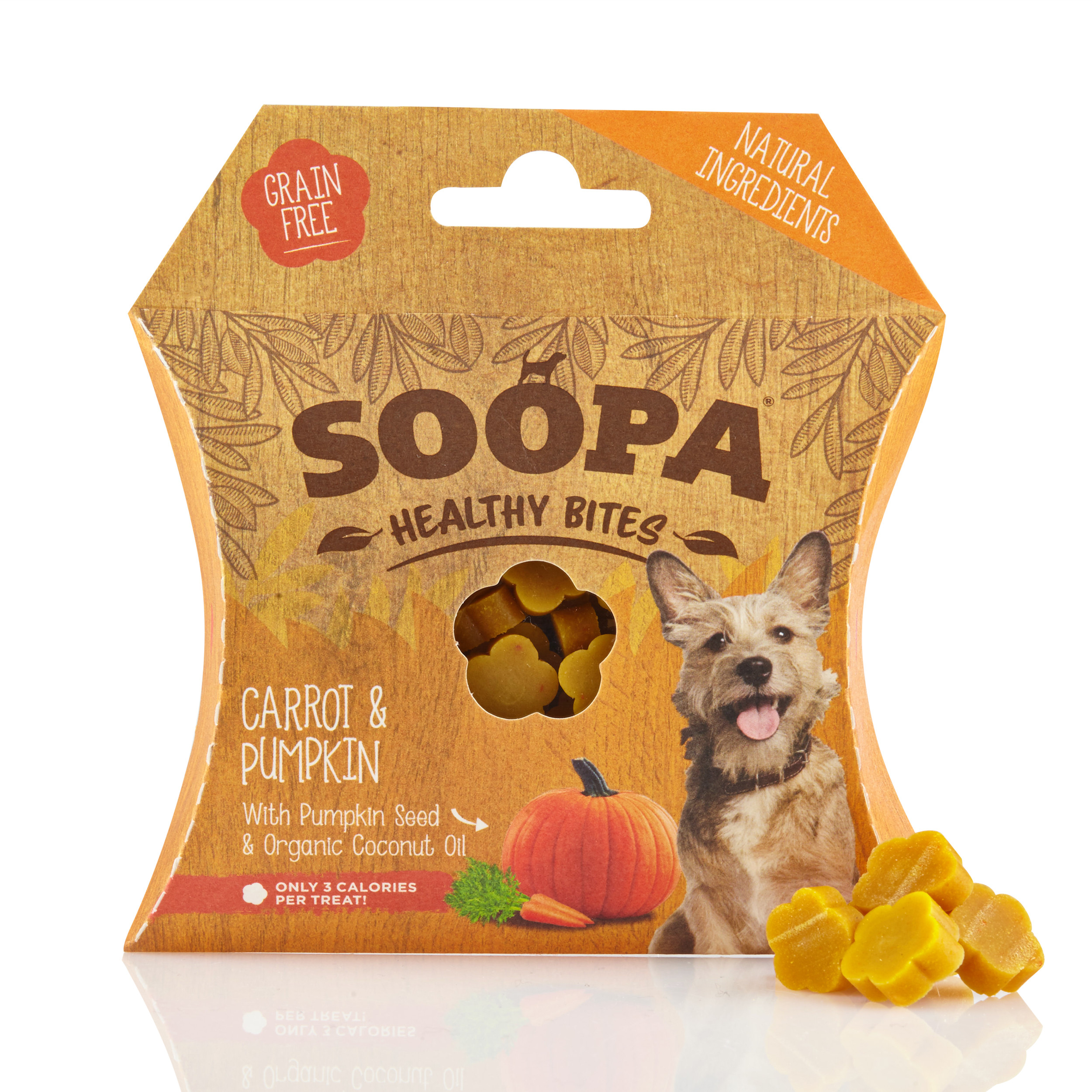 Soopa Bites Pompoen & Wortel Hondensnacks