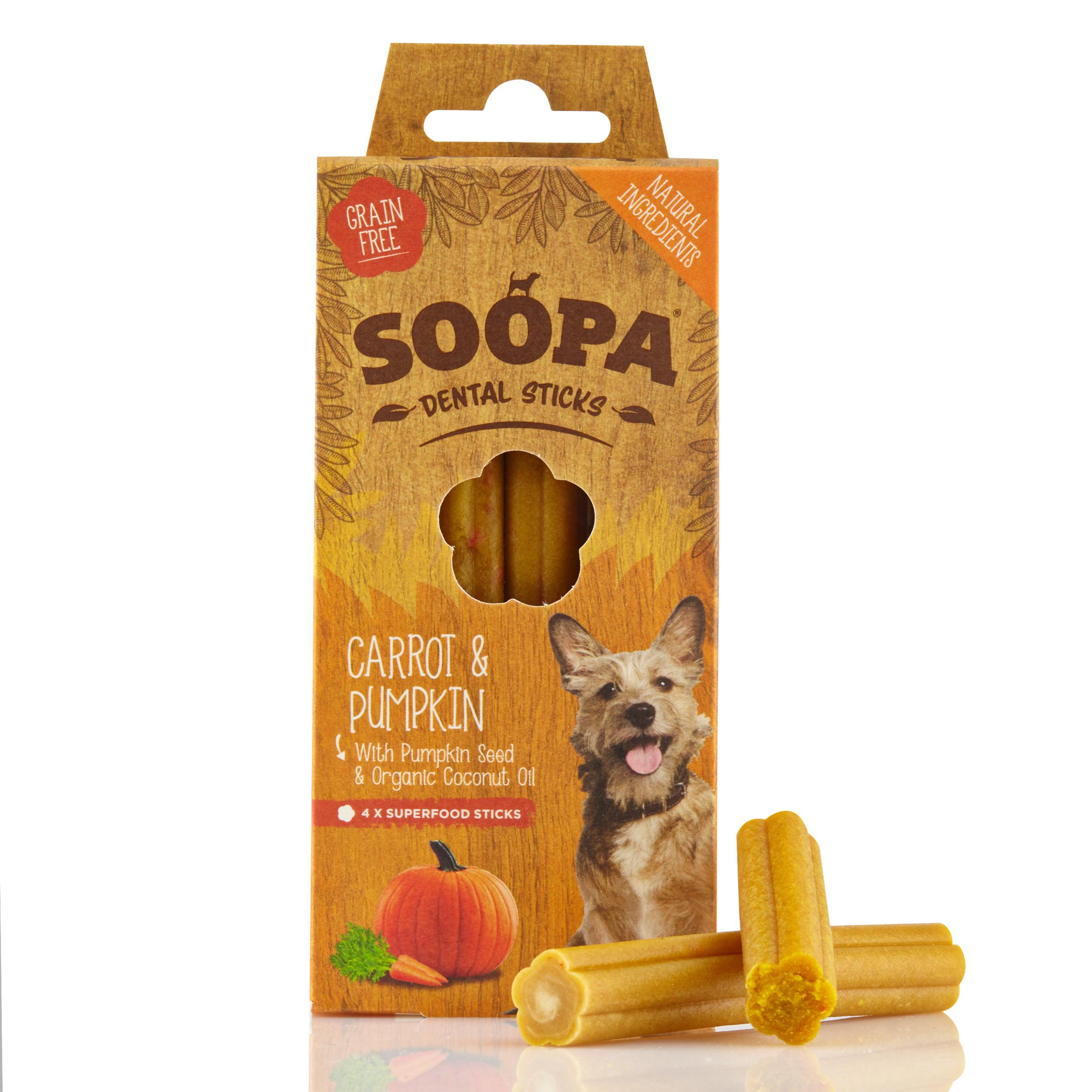 Soopa Dental Sticks Pompoen & Wortel Hondensnack