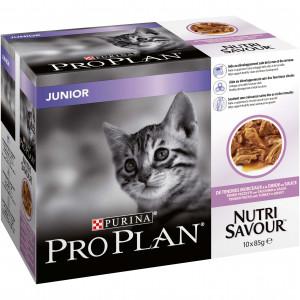 Pro Plan Junior Nutrisavour kalkoen nat kattenvoer 10x85g 10 x 85 gram