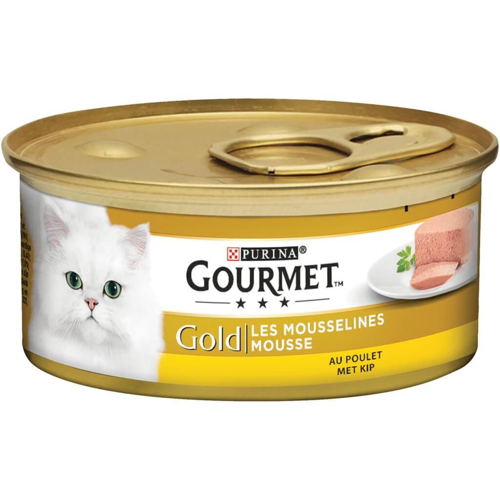 Gourmet Gold Mousse Kip kattenvoer