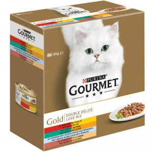 Gourmet Gold 8-Pack Luxe Mix kattenvoer