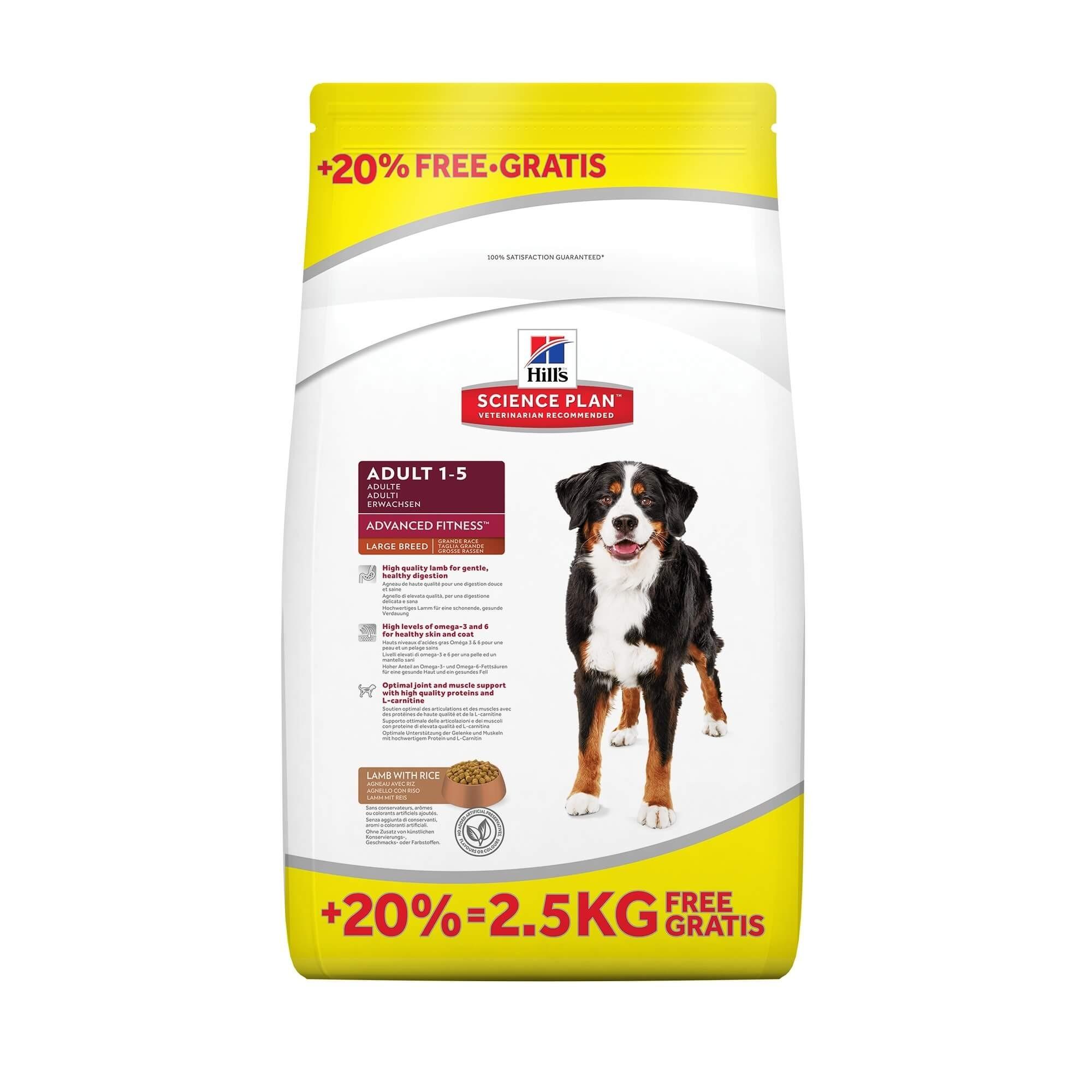 Hill's Adult Largebreed Lam & Rijst hondenvoer