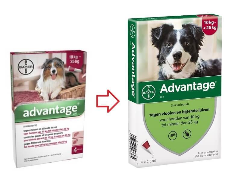 Advantage Nr. 250, vlooienmiddel voor honden