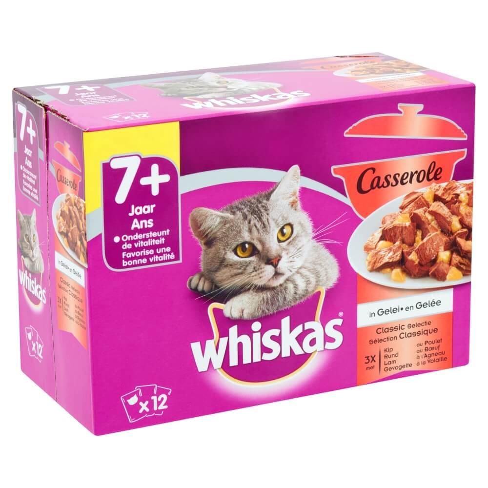 Whiskas Pouch Senior 7+ Casserole Classic Selectie in Gelei