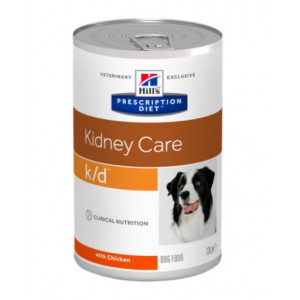 Hill's Prescription Diet K/D Kidney Care hondenvoer kip 370 g blik 1 tray (12 x 370 gram)