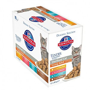 Hill's Young Adult Sterilised Cat Pouch Multipack 2 x 12 zakjes