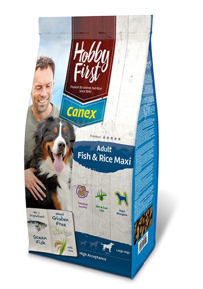 HobbyFirst Canex Adult Fish & Rice Maxi Hondenvoer