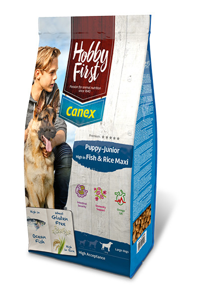 HobbyFirst Canex Puppy-Junior High in Vis & Rijst Maxi