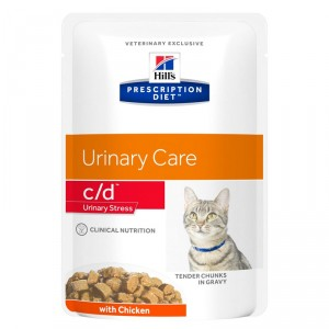 Hill's Prescription C/D Urinary Stress kip kattenvoer 85 gr zakje