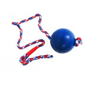 Massief rubberen bal aan touw voor de hond Klein