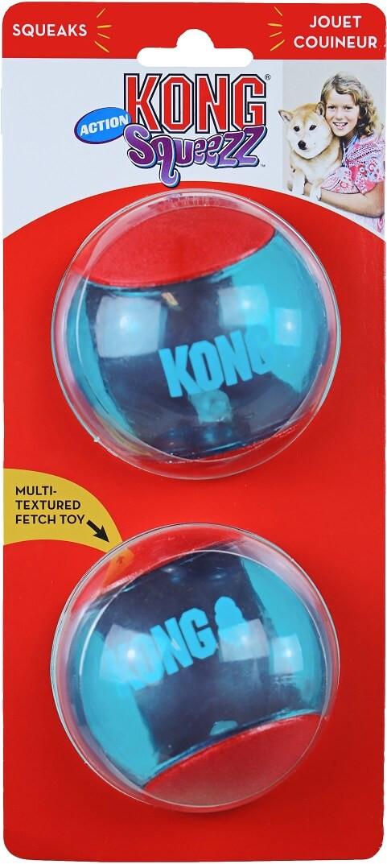 Kong Squeez Action hondenspeeltje groot - 2 stuks