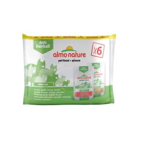 Almo Nature Anti Hairball Multipack Rund & Kip 6x70gr