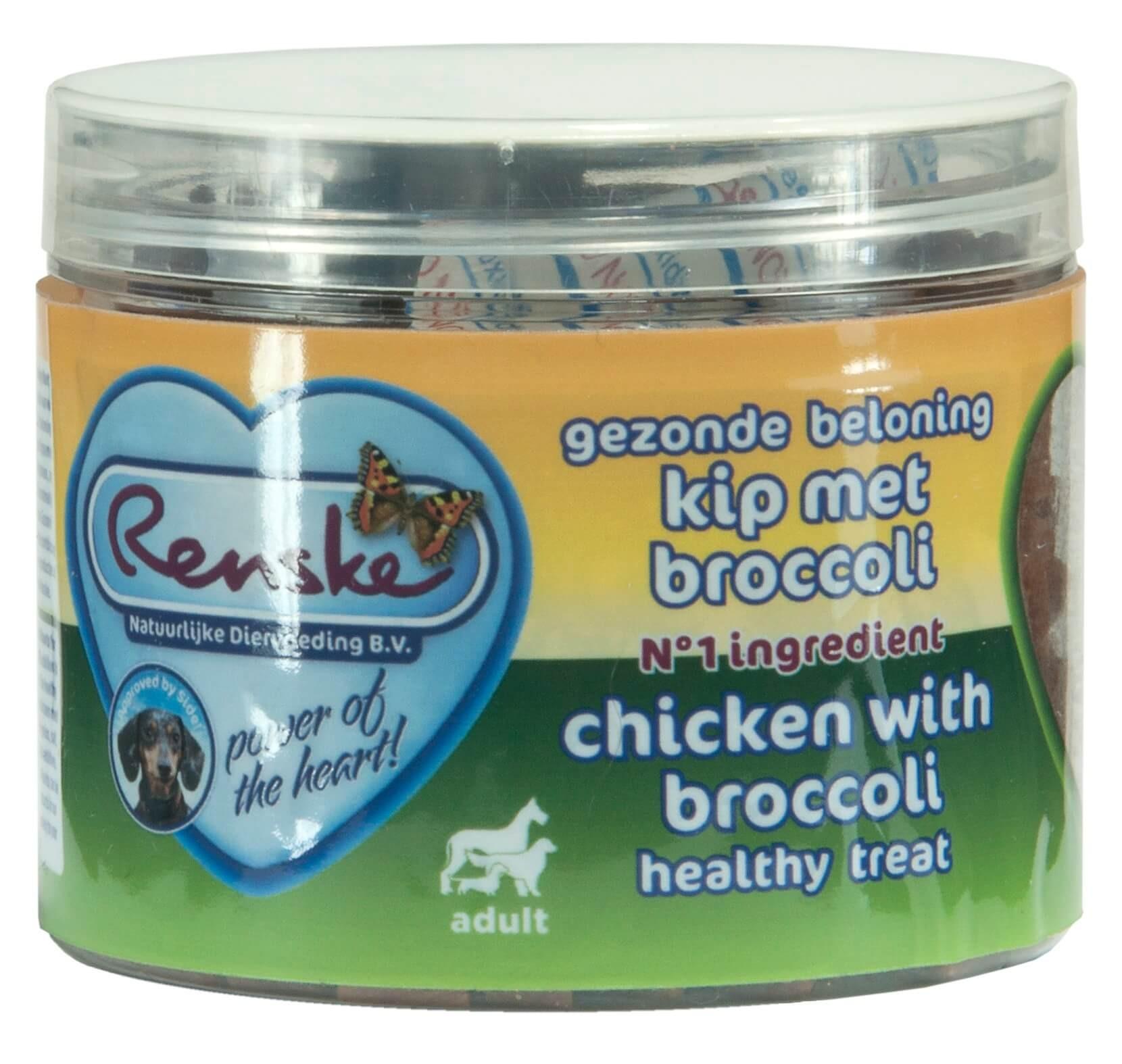 Renske Gezonde beloning Hartjes Kip met Broccoli hond