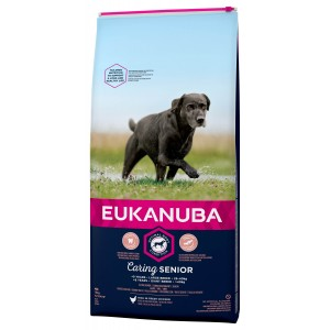 Eukanuba Caring Senior Small Large kip hondenvoer