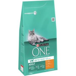 Purina One Adult Kip Volkoren Granen kattenvoer 6 kg