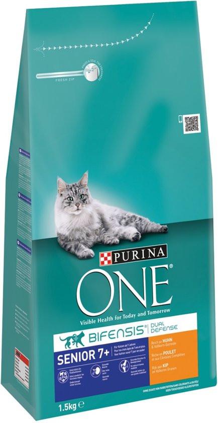 Purina One Senior Kip Volkoren Granen kattenvoer