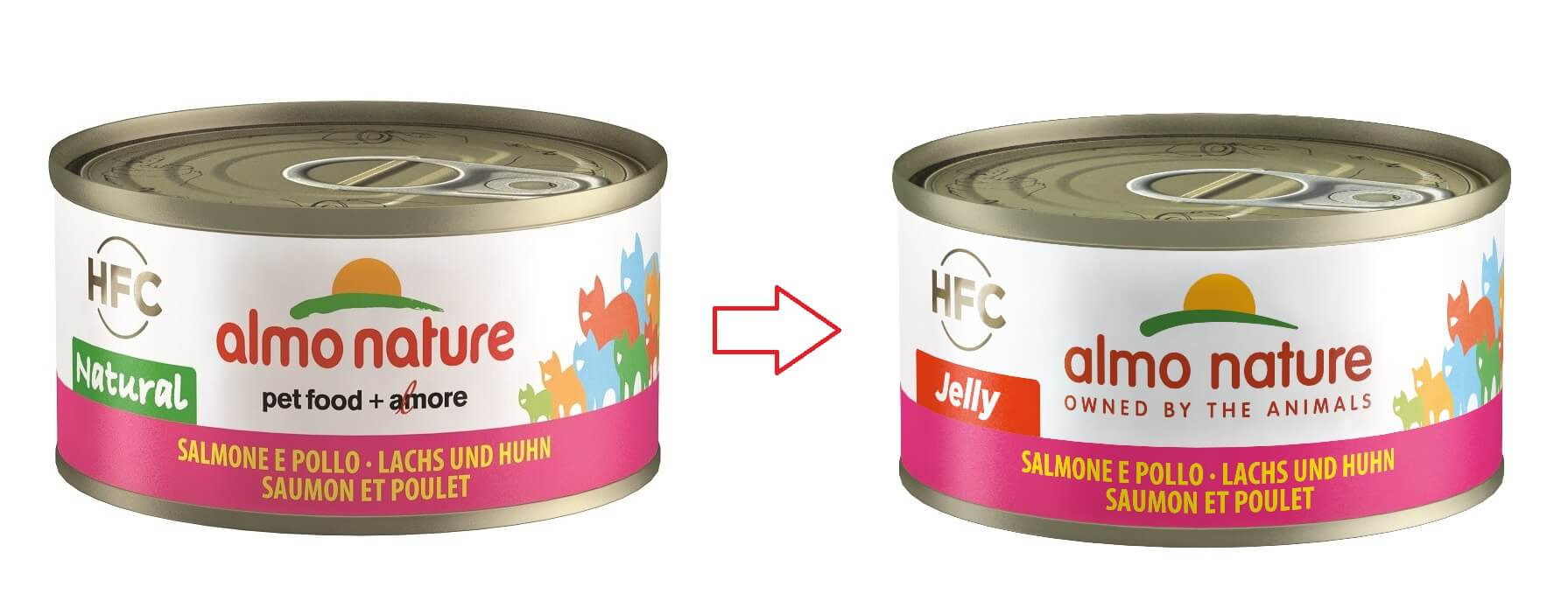 Almo Nature Jelly Zalm en Kip 70 gr