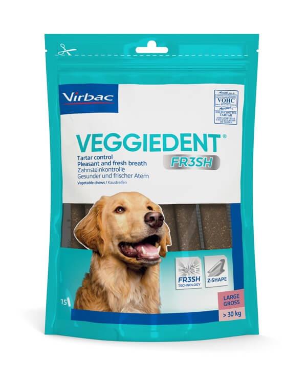 Virbac VeggieDent Large hondensnack vanaf 30 kg/15 kauwstrips